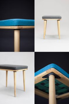 Solid Oak stool from Habitables