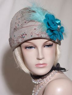 1920s viintage inspired cloche hat great gatsby by