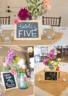 Chalkboard Table Numbers - PHOTO SOURCE • VIRTU PHOTOGRAPHY