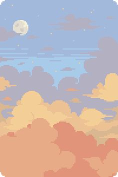 Experimenting with clouds : PixelArt Cute Pastel Wallpaper, Cute Patterns Wallpaper, Scenery Wallpaper, Aesthetic Pastel Wallpaper, Kawaii Wallpaper, Cute Wallpaper Backgrounds, Pretty Wallpapers, Aesthetic Wallpapers, Cloud Wallpaper
