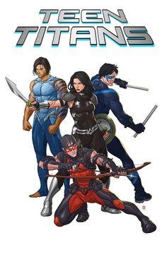 Teen Titans - Nightwing, Aqualad, Speedy and Donna Troi aka Wonder Girl - DC Comics
