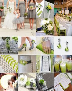 Lime Green and Grey Weddings