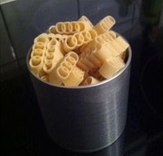 that's just silly:  Branded products that can be eaten! Fantastic Audi shaped pasta