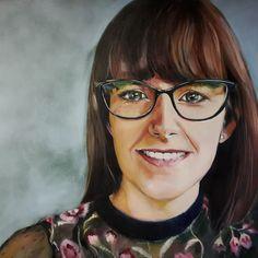 Portrait painting Oil on canvas 1m x 1m Melissa Von Brughan  vonbrughan@gmail.com