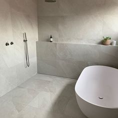 Thanks to @elegancetilesascotvale for this gorgeous project! Grey Modern Bathrooms, Bathroom Renos, Wall And Floor Tiles, Decorative Tile, Color Tile, Interior, Projects, Design, Moon