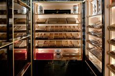 with ・・・ Take a peek inside the humidor in Wellesley's Cigar Lounge and you can't help but be impressed. The London hotel claims to have the largest hotel humidor in Europe, home to million worth of cigars. Cigar Shops, Cigar Bar, Cigar Humidor Cabinet, Luxury Collection Hotels, Hotel Restaurant, Cigar Room, Bar Lounge, Smoking Room, Wine Cellar