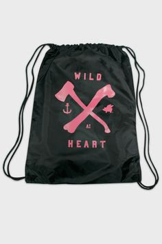 Glamour Kills Wild At Heart Drawstring Bag