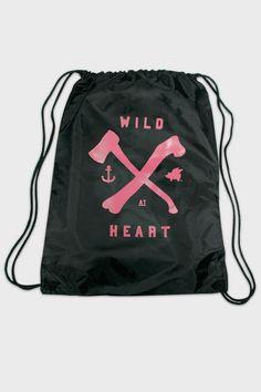 Glamour Kills Wild At Heart Drawstring Bag