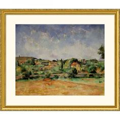 Great American Picture Red Earth Gold Framed Print - Paul Cezanne - 16137-Gold