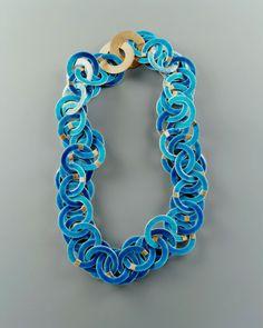 Ralph Bakker - necklace: gold, silver & enamel