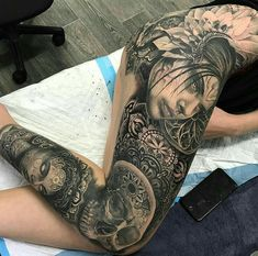 Ideas Tattoo Sleeve Leg Thighs Awesome For 2019 - Tattoo Oberschenkel Frau Tattoo Girls, Girl Leg Tattoos, Sleeve Tattoos For Women, Trendy Tattoos, Sexy Tattoos, Body Art Tattoos, Fake Tattoos, Tatoos, Leg Sleeve Tattoo