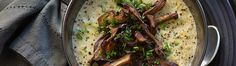 Leek Polenta with Roasted Chanterelle Mushrooms - Rawmazing Raw and Cooked Vegan Recipes