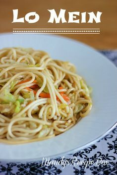 Lo Mein on Mandy's Recipe Box. Make take-out at home! #chinese