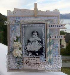 Dåpskort - Audhild Ljones - Stempelglede :: Design Team Blog