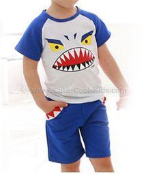 ชุดเสื้อเด็ก+กางเกง สีน้ำเงิน Monster S. 100 110 120 130 140