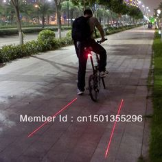 Cycling Bike Bicycle 2 Laser Projector Red Lamps Beam and 5 LED Rear Tail Lights-in Bicycle Light from Sports & Entertainment on Aliexpress.com | Alibaba Group