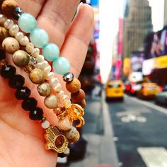 Bringing a little zen into hectic Times Square! Newly inspired listings (like this om bracelet) bring some extra peace and happiness into your life. Soul Shine, Jewelry Design, Unique Jewelry, Times Square, Zen, Beaded Bracelets, Happiness, Design Inspiration, Peace