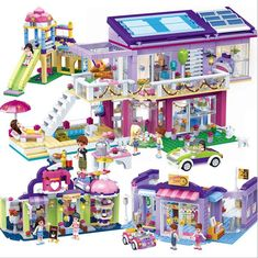 GUDI City Girl Series Modern Dream Princess Girl Legoes Blocks Shop Building Set Classic Educational Toys For Kids Gifts – Hot Products Legos, Toys For Boys, Kids Toys, Casa Lego, Lego Friends Sets, Lego Activities, Building Blocks Toys, Lego Blocks, Lego Projects