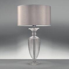 CLIVIA Elegante Lampada da Tavolo D.35 in Cristallo Soffiato - Antea Luce