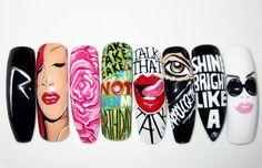 Rihanna inspired nail designs!!!! #dope