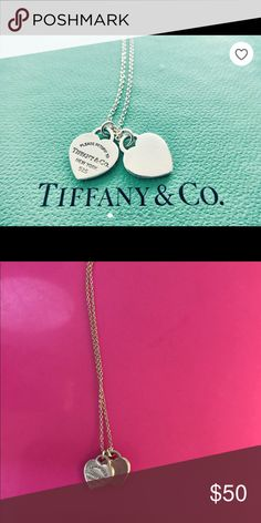 Tiffany and co double heart necklace Great necklace in good condition. Has been worn but no major signs of damage just a few minor scratches. Tiffany & Co. Jewelry Necklaces