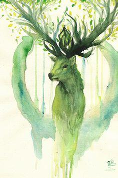 Дух леса | Почтовые открытки | Марк Штемпель