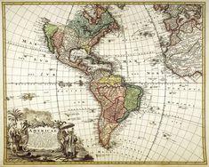 Printable North America map South America map Digital print Wall art Home decor print Antique Wall decor High resolution Gift for him Travel http://etsy.me/2CUgJ3X #art #print #digital #white #rainbow #southamericamap #northamericamap #americamapprint #wallartprint