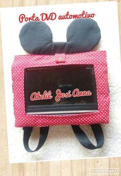 Porta DVD automotivo Minnie Ateliê Josi Anna #ateliejosianna #portadvd #carro