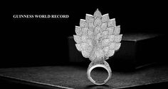 """Guinness World Record Diamonds Set In One Ring"""" # Savio Jewellery Peacock Ring, Guinness World, Cover Pics, One Ring, World Records, Diamonds, Jewellery, Rings, Pictures"""