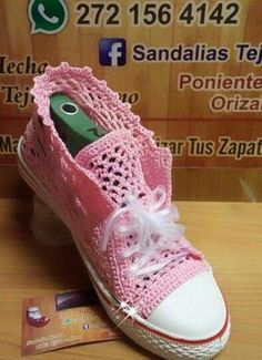 Crochet pic tennis shoes https://s-media-cache-ak0.pinimg.com/originals/bb/ef/c3/bbefc33b2ad4df5cda097ff7ef514749.jpg