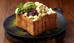 Japanese Matcha & Ogura Honey Toast