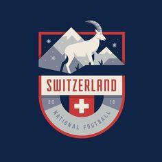 Switzerland World Cup Badge. Typography Logo, Logo Branding, Branding Design, Corporate Branding, Brand Identity, Soccer Logo, Event Logo, Badge Logo, Photography Logo Design