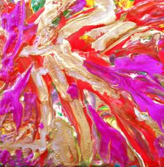 Blending thru Melting Oil Pastel Abstract 4 in x 4 by ninaswindow, $25.00