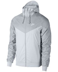 Nike Men's Windrunner Colorblocked Jacket - Silver S Nike Outfits, Sport Outfits, Nike Clothes Mens, Mens Sweatshirts, Hoodies, Athletic Outfits, Athletic Clothes, Sports Shirts, Nike Sportswear