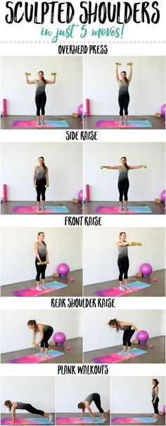 Sculpted Shoulder Workout | The BEST exercises to sculpt those shoulders from all angles! #workout http://thelivefitgirls.com/2014/05/the-sculpted-shoulders-workout/?utm_campaign=coschedule&utm_source=pinterest&utm_medium=The%20Live%20Fit%20Girl%20&utm_content=The%20Sculpted%20Shoulders%20Workout