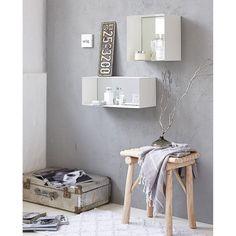 Spiegel, Metall/Spiegelglas Vorderansicht