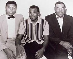 The Greatest of All Time!! Joe Louis, Muhammad Ali and Sugar Ray Robinson...Priceless!