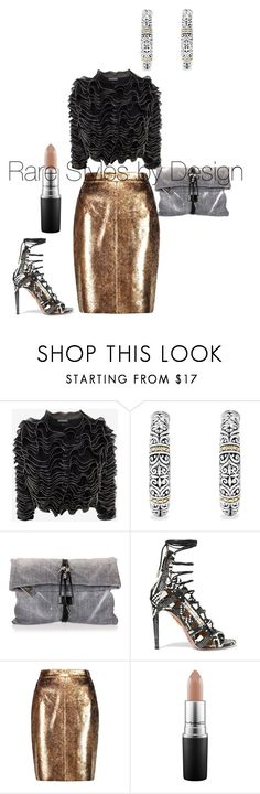 """Untitled #385"" by fashionista1984 on Polyvore featuring Alexander McQueen, Effy Jewelry, Dsquared2, Aquazzura, Raoul, MAC Cosmetics, fashionista, fashionblogger, Howtostyle and curvy"