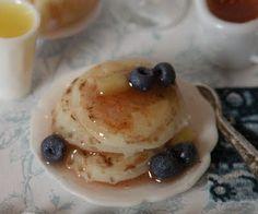 mini blueberry pancakes - wow, the detail! Cynthia from Cynthia's Cottage Design