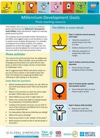 Millennium Development Goals photo teaching resource