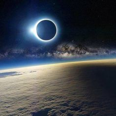 Solar Eclipse As Seen From Space