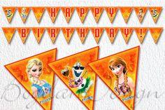 INSTANT DOWNLOAD Frozen Banner Printable Frozen by BogdanDesign