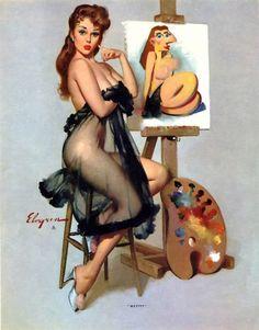1964 by Gil Elvgren. …