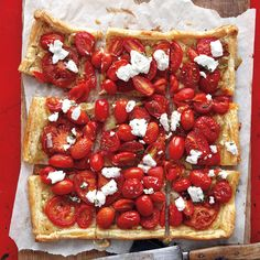 Serve this savory tart as a side dish or cut into little squares as an hors d'oeuvre. A layer of sour cream and mustard topped with sauteed leeks prevents the crust from getting soggy under juicy tomatoes.