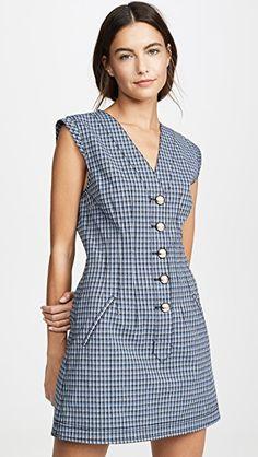 Best Seller Derek Lam 10 Crosby V Neck Dress online - Allgoodsideas Jw Moda, Size 0 Models, Casual Dresses, Short Dresses, Dress Cuts, China Fashion, V Neck Dress, Cotton Dresses, Women's Fashion Dresses