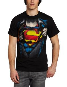 DC Comics Men's Superman Reveal Shirt - http://forthatgeek.com/clothing-accessories/dc-comics-mens-superman-reveal-shirt/