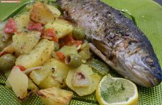 fischi`s cooking and more....: mediterrane forelle
