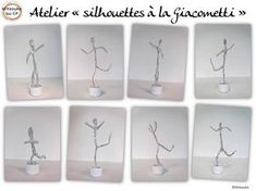 Atelier silhouettes fil de fer - Mitsouko au CP