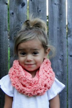 Kids Scarf Girls crochet cowl kids infinity by JuneBugBeanies, $24.00