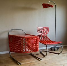 Recycled Shopping Carts: 3-Piece Living Room Furniture Set